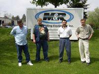 Инженерный состав СТЕНСАРТ на обучении в Чикаго на фабрике M&R Sales and Service.